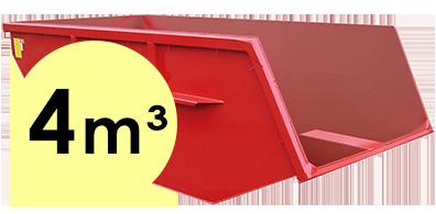 4 m³-es konténer rendelés Csömörre