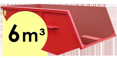 6 m³-es konténer rendelés Csömörre